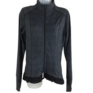 Pure &Good Slate Blue Lace Trimmed Athletic Jacket